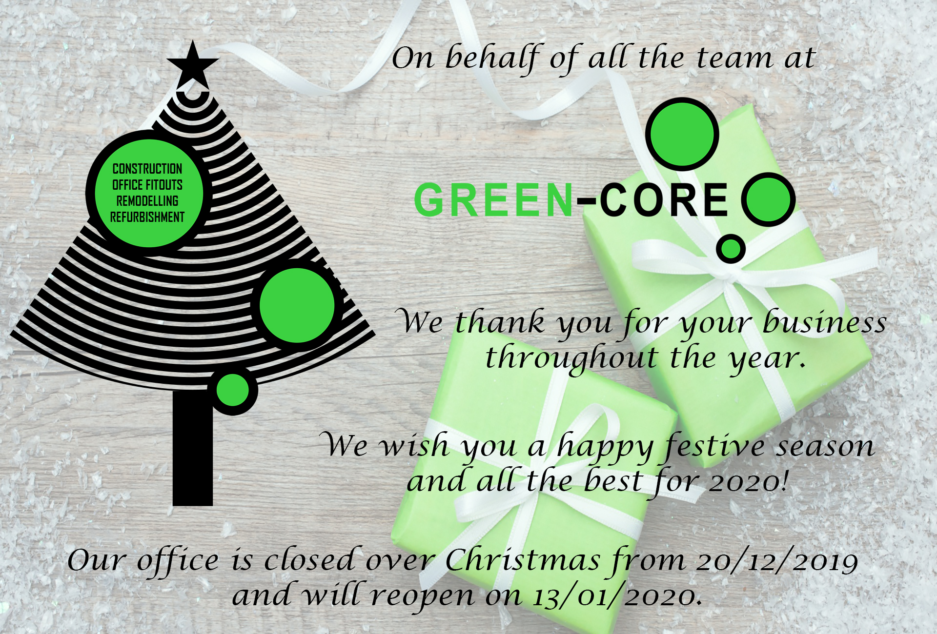 Greencore Christmas 2020